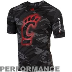adidas Cincinnati Bearcats Sideline Elude Fitted Performance T-Shirt - Black  Camo  37 1cd95d801