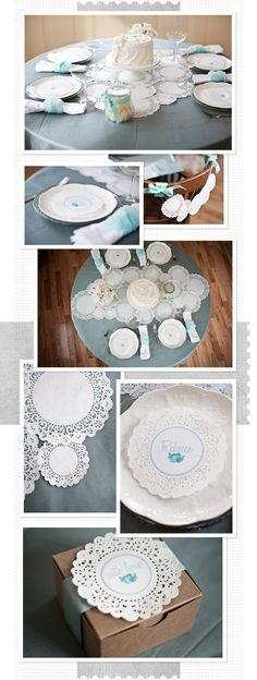 table runner made out of doilies