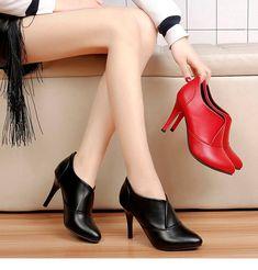 39d193347 40% СКИДКА|BENZELOR/2018 осенне зимняя женская обувь, женские ботильоны с  острым носком, модные роскошные женские ботинки на высоком тонком каблуке,  черные, ...