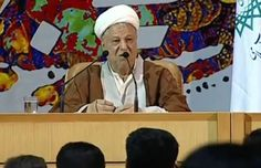 "Former Iranian president Akbar Hashemi Rafsanjani says he believes Israel will ""be erased soon."" (Image source: YouTube)"