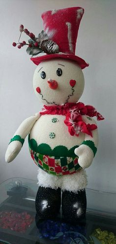 Christmas Sewing, Christmas Art, All Things Christmas, Christmas Decorations, Xmas, Christmas Ornaments, Holiday Decor, Snowman Crafts, Flower Pots