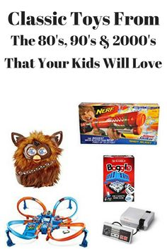 A collection of 5 different classic toys from the 80's-2000's that will bring out the child in any adult, and your kids will love