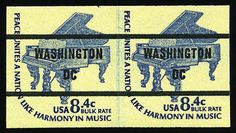 United States 1978, 8.4c Piano coil, untagged (Bureau precancel), imperf. Washington D.C. precancel, line pair, o.g., never hinged, fresh and Very Fine, v...