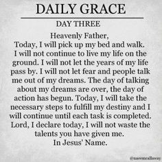daily grace day three