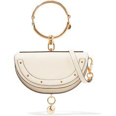 Chloé Nile Bracelet mini textured-leather shoulder bag (41 480 UAH) via Polyvore featuring bags, handbags, shoulder bags, cream, chloe handbags, evening handbags, shoulder handbags, cream purse и cocktail purse