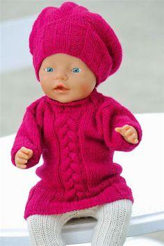 Ravelry: Nr 21 Dukkeklær pattern by Sandnes Design Reborn Dolls, Baby Dolls, Knit Or Crochet, Crochet Hats, Baby Born Clothes, Bear Doll, Knitting For Kids, Knitted Dolls, 18 Inch Doll