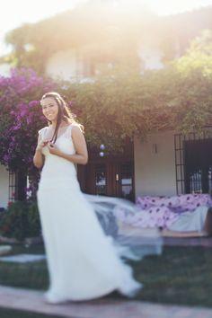 Raimon Bundo gown. Photography: Jimena Roquero - jimenaroquero.com  Read More: http://www.stylemepretty.com/little-black-book-blog/2013/12/31/lavender-valencia-destination-wedding/