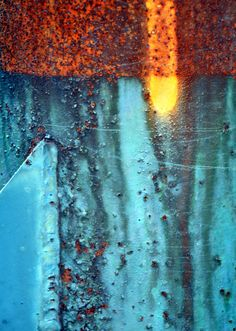 Color - rust - colour inspiration - blue - orange - yellow