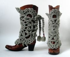 Crocheted+legwarmers+MAROUSCHKA++greenish+grey+by+stitchingsbym,+$58.00