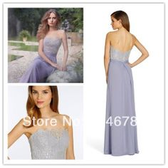 Beautiful Style Scalloped Off The Shoulder Lace Back Zipper  A-Line Long  Bridesmaid Dress