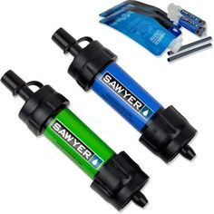 Sawyer Products Mini Water Filtration System, Blue and Green The Sawyer Mini Water Filter is a second generation filter that is the lightest and