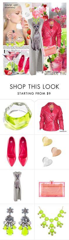 """High split dress"" by anne-irene ❤ liked on Polyvore featuring Estée Lauder, Farhi by Nicole Farhi, H&M, Morgan, Newd, Charlotte Olympia, SHOUROUK, women's clothing, women and female"