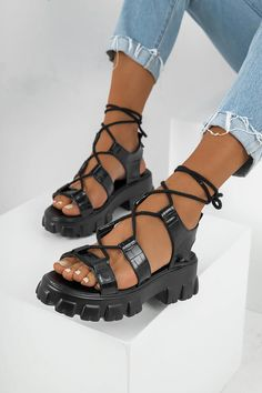 Πλατφόρμες Croco με Τρακτερωτή Σόλα - LUIGI Luigi, Sandals, Boots, Products, Fashion, Crotch Boots, Moda, Shoes Sandals, Fashion Styles