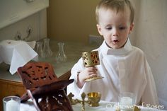 """20 month old playing """"Mass"""" SO cute!!!"""
