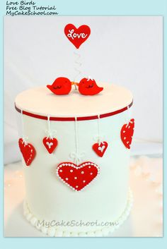 In this sweet Valentine's Day cake tutorial, you will learn to make a sweet design with love birds!