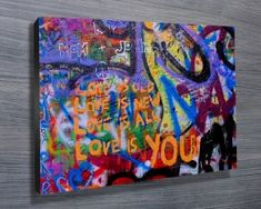 LOVE IS YOU $26.00–$741.00 A nice graffiti design on the wall. As with all of our art, its available in a variety of options, the most popular being stretched canvas print, but also rolled canvas (no frame) or printed on paper. http://www.canvasprintsaustralia.net.au/  #PhotosoncanvasAustralia #Stretchedcanvas #Gicleeprint