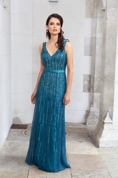 Ein traumhaftes langes Ballkleid mit Pailletten Dressing, Backless, Formal Dresses, Style, Fashion, Sequins, Gown Dress, Wedding, Dresses For Formal