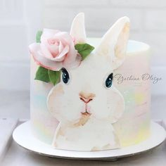 Easter Bunny Cake, Bunny Party, Easter Cupcakes, Easter Cookies, Bunny Cakes, Bunny Birthday Cake, Rabbit Cake, Bunny Rabbit, Spring Cake