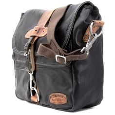fantastic upcycled bag made from well worn leather jacket. yes please.