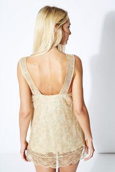 Venda Twin set / 27999 / Mulher / Homewear / Top de renda Dourado