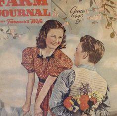 Framed Vintage June 1940 Farm Journal and Farmer's Wife