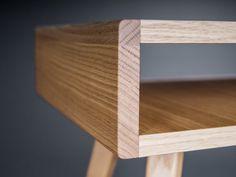 Scandinavian Style, Modern Side Table, Custom Furniture, Plywood Furniture, Furniture Plans, Open Shelving, Solid Oak, Nightstand, Mid-century Modern