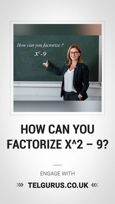 We will calculate and show you how to factorize x2 – 9 by difference of squares method. Online Math Classes, Classroom Environment, Squares, Canning, Bobs, Home Canning, Conservation