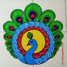 50 Jyeshtha Purnima Rangoli Design (ideas) that you can make yourself or get it made during any occasion on the living room or courtyard floors. Easy Rangoli Designs Diwali, Simple Rangoli Designs Images, Rangoli Designs Flower, Free Hand Rangoli Design, Rangoli Patterns, Colorful Rangoli Designs, Rangoli Ideas, Beautiful Rangoli Designs, Diwali Rangoli
