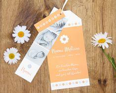 Geburtskarte «Noemi» als Kartentrio 💕🌼 einfache Gestaltung, gratis weisse Couverts, schnelle Lieferung Thanks Card, Templates, Cards, Ideas