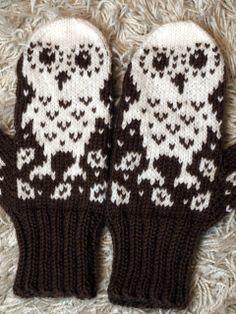 Owl mittens - inspir