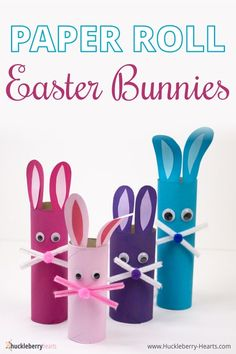 Easter crafts for kids are so much fun to make, and this kids' craft is no exception. Today I want to share with you how to make these super adorable Easter bunny paper towel roll … Holiday Crafts For Kids, Family Crafts, Paper Crafts For Kids, Easy Crafts For Kids, Toddler Crafts, Paper Towel Roll Crafts, Paper Towel Rolls, Bunny Crafts, Easter Crafts