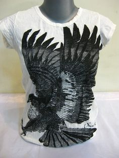 Sure Design Womens Eagle T-Shirt White