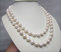 very charming 18-19  south sea white natural 10-11 mm pearl necklace gold clasp