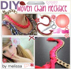 """""""DiY - woven chain necklace (:"""" by the-polyvore-tipgirls on Polyvore"""