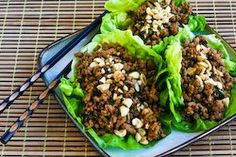 for Asian Lettuce Cups (or wraps) with Spicy Ground Turkey Filling ...