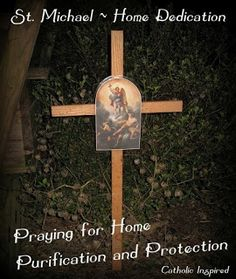 Michael House Purification and Protection - Catholic Inspired Catholic Crafts, Catholic Kids, Roman Catholic, Anima Christi, All Saints Day, Catholic Religion, Immaculate Conception, My Prayer, St Michael
