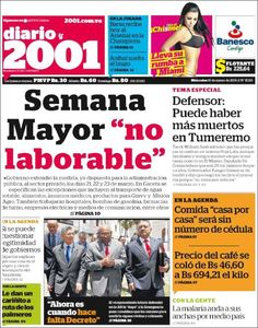 #20160216 #VENEZUELA #CARACAS Miércoles 16 MAR 2016 #Diario2001Caracas http://en.kiosko.net/ve/2016-03-16/np/ve_2001.html