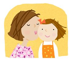 international directory of children's illustrators Love Mom, Daughter Love, Mothers Love, Daughters, Mom And Baby, Mommy And Me, Sweet Drawings, The Joys Of Motherhood, Sons