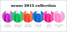 Essie's summer 2013 collection