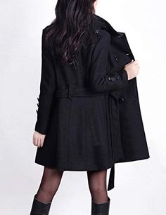 Cromoncent Womens Oversized Pure Colour Stand Collar Windbreaker Midi Trenchcoat Jackets