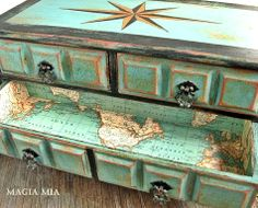 A Painted Treasure Chest Masterpiece - I love this piece for an ocean-inspired master bedroom suite.