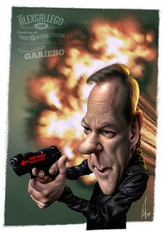 @RealKiefer #JackBauer #JackBauerIsBack FOLLOW THIS BOARD FOR GREAT CARICATURES OR ANY OF OUR OTHER CARICATURE BOARDS. WE HAVE A FEW SEPERATED BY THINGS LIKE ACTORS, MUSICIANS, POLITICS. SPORTS AND MORE...CHECK 'EM OUT!! Anthony Contorno Sr