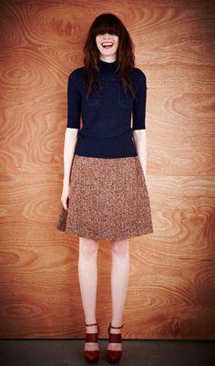 Turtle Neck Jumper & Donegal Tweed Skirt - Karen Walker