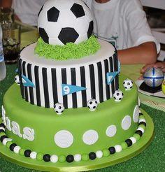Más Recetas en https://lomejordelaweb.es/ | Increíble pastel en una fiesta de Fútbol soccer :: Amazing cake at a Soccer Party