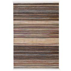 Tapete Indiano Baider Stripe 2.00X3.00 Natural/Muticolorido - Doural