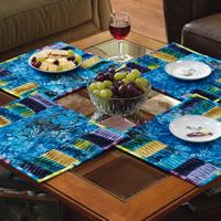 """""""Twist and Turn"""" placemats by Lori Hein (from The Quilter Magazine)"""