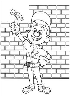 Desenhos para colorir para crianças. Desenhos para imprimir e colorir Detona Ralph 19