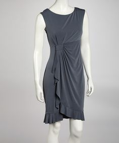Take a look at this Gray Side Drape Sleeveless Dress by AA Studio on #zulily today!$21.99, regular 49.00