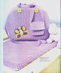 Tricotando para o Neném: Maleta e trocador em crochê p/ o bebê! Lindo...  http://tricotando-para-o-nenem.blogspot.com.br/