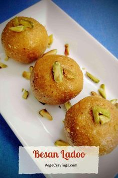 Besan Ladoo is an Indian Sweet prepared using roasted chickpea flour & is often enjoyed in festivals like Ganesh Chaturthi, Diwali, Holi etc. North Indian Recipes, Indian Dessert Recipes, Besan Laddu Recipe, Fried Fish, Fish Dishes, Recipe Today, Dairy Free, Vegetarian Recipes